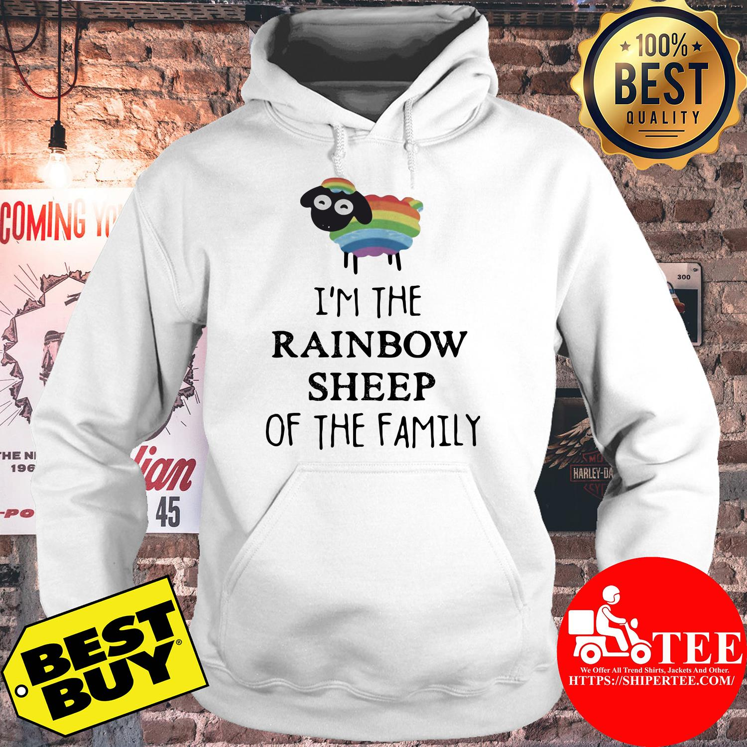 I'm The Rainbow Sheep Of The Family hoodie