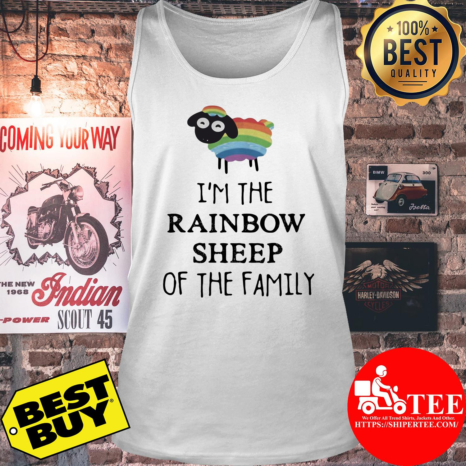 I'm The Rainbow Sheep Of The Family tank top