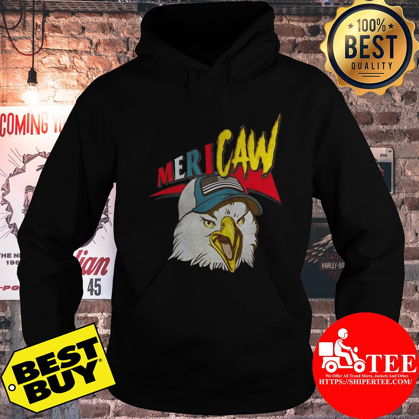 Independence Day Mericaw eagle hoodie