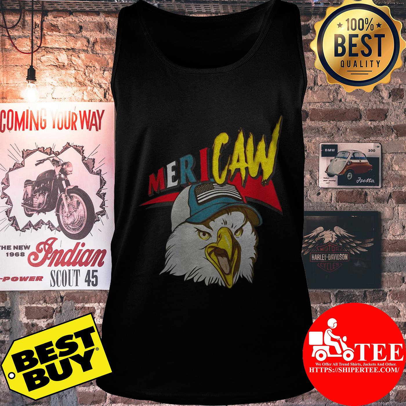 Independence Day Mericaw eagle tank top