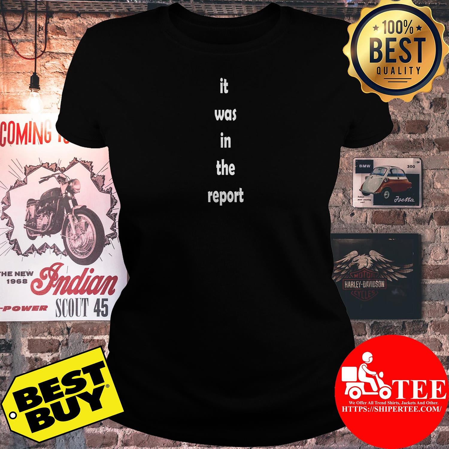 It was in the report ladies tee