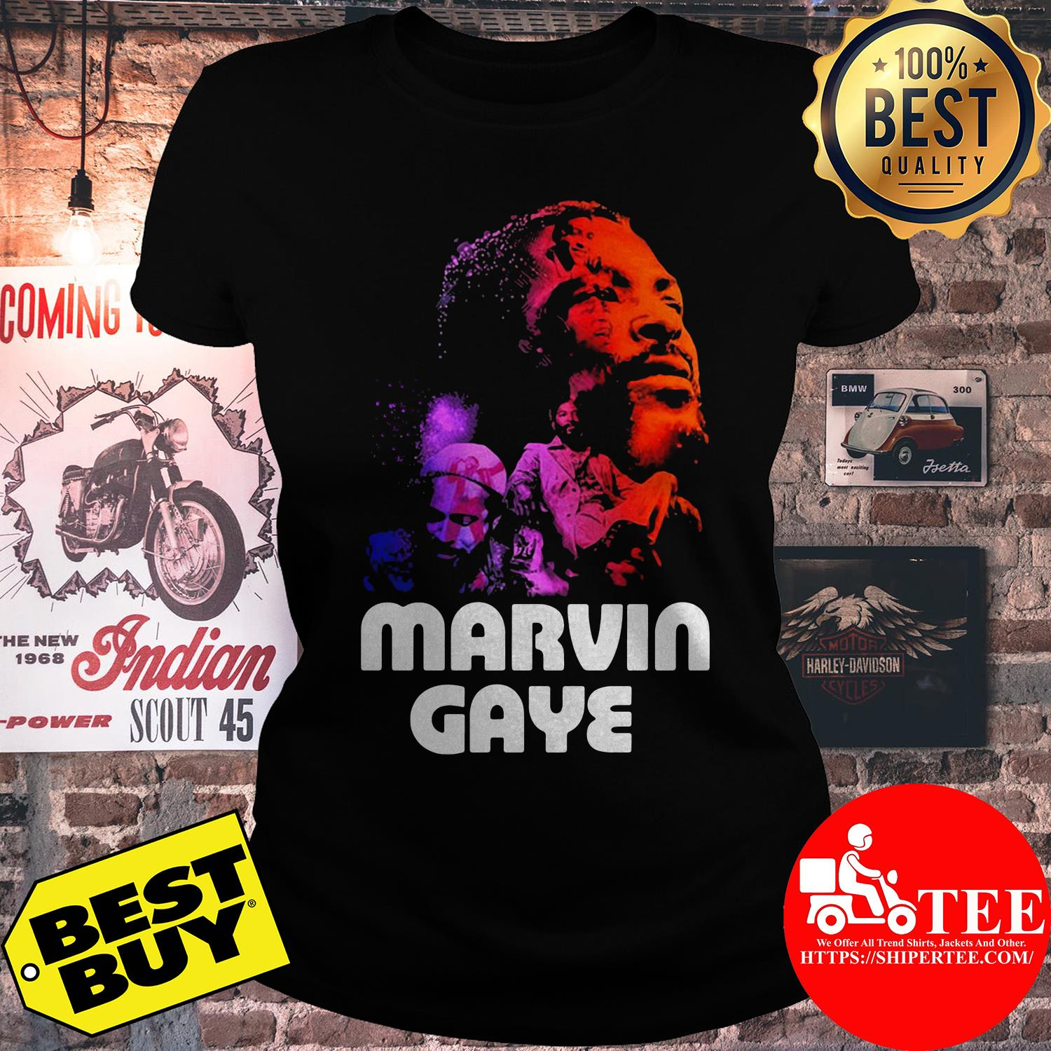 Marvin Gaye Artwork ladies tee