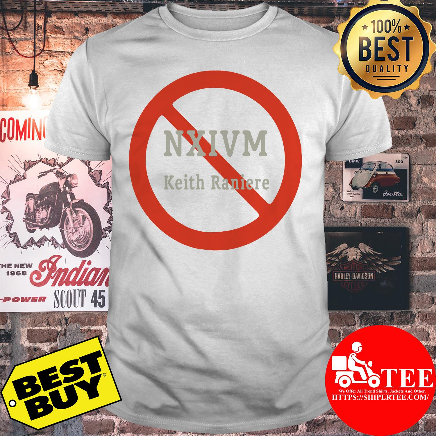 NXIVM Keith Raniere Golden Grey Graphic Novelty Tee Shirt