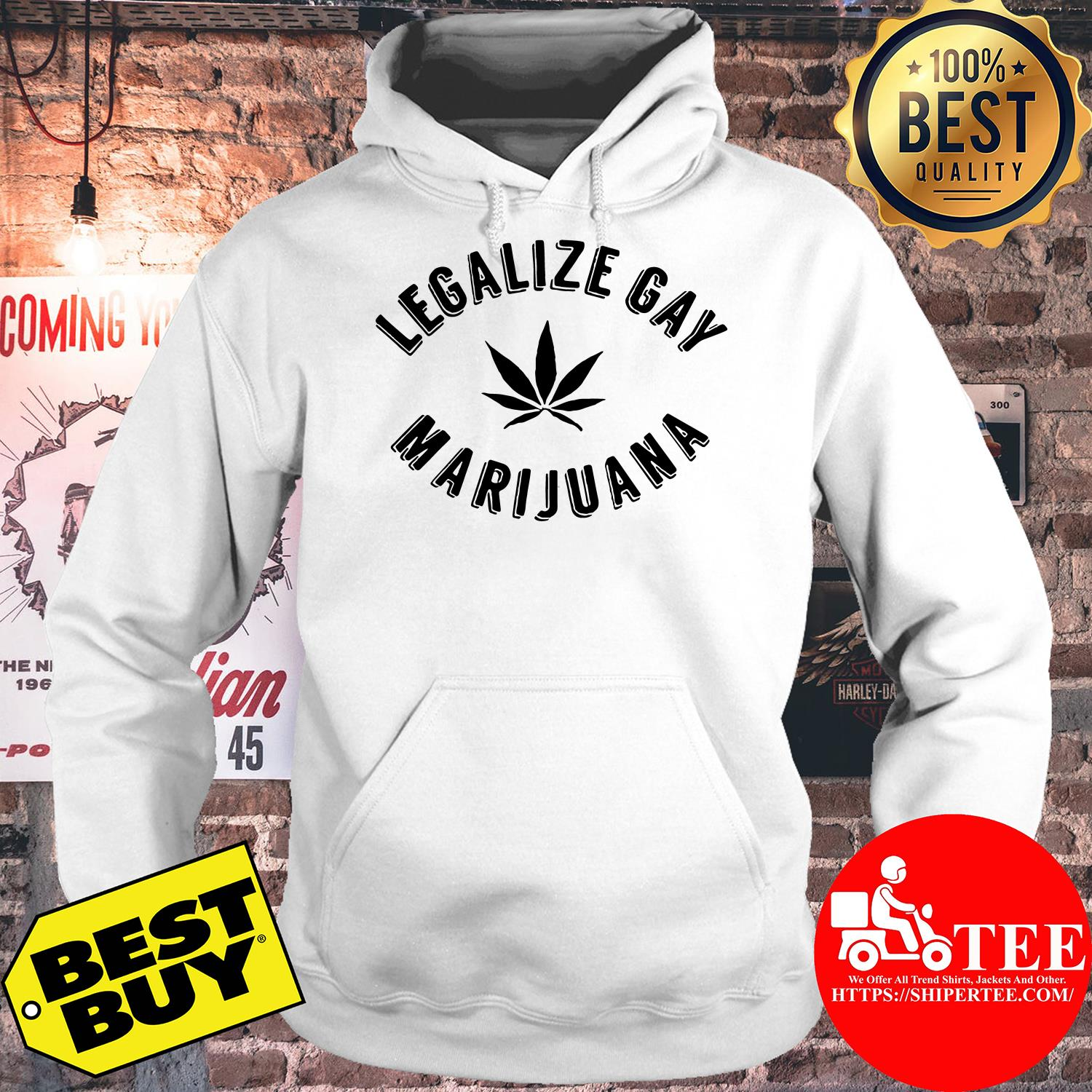 Official Legalize gay marijuana hoodie