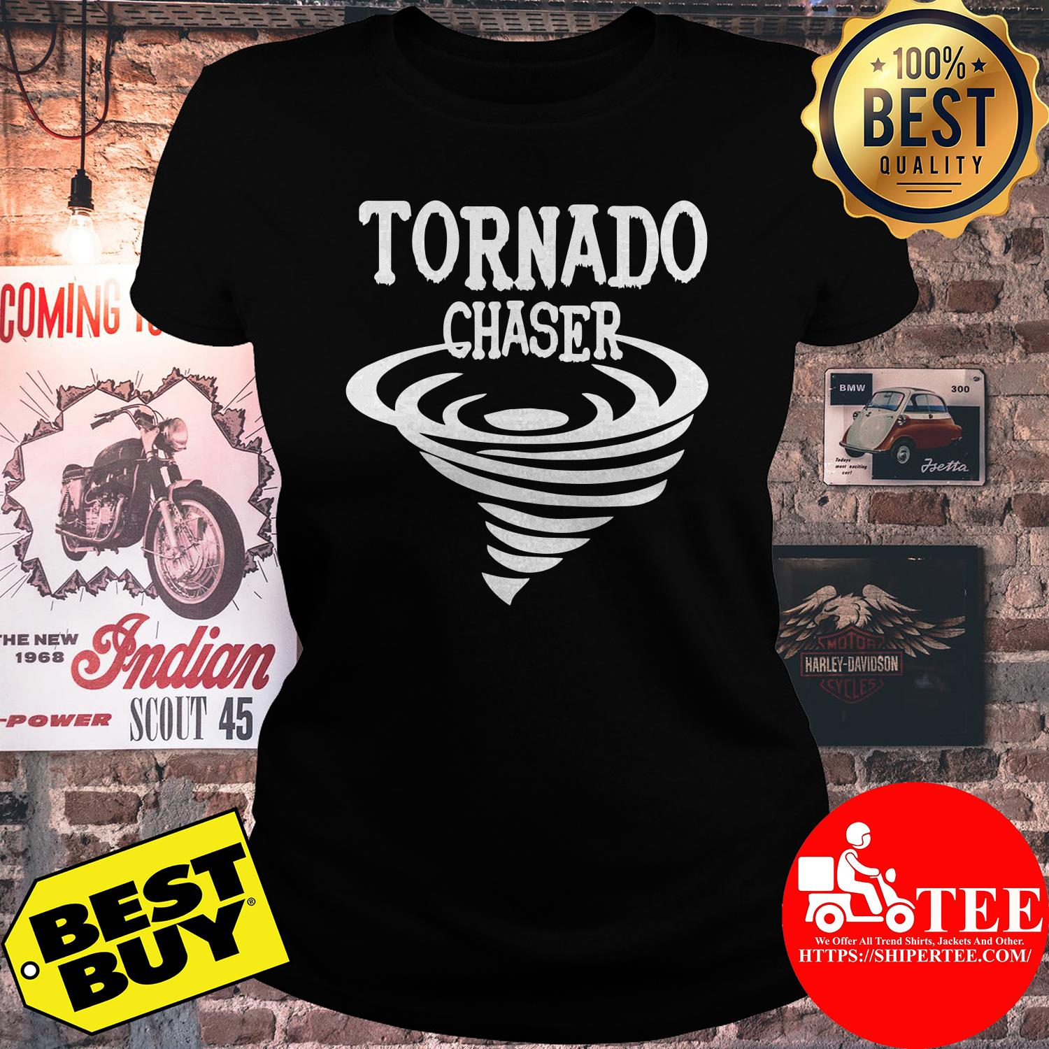 Official Tornado Chaser Storm ladies tee