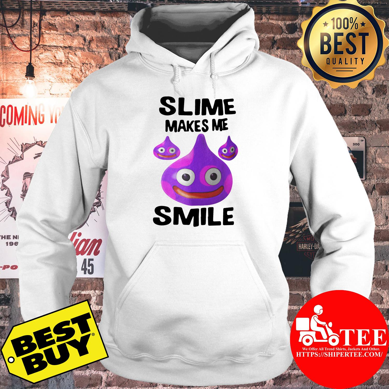 Slime makes me smile and laugh hoodie