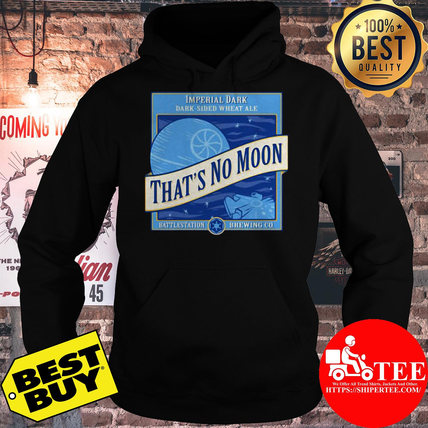 Star Wars That's No Moon Imperial Dark Side Wheat Ale hoodie