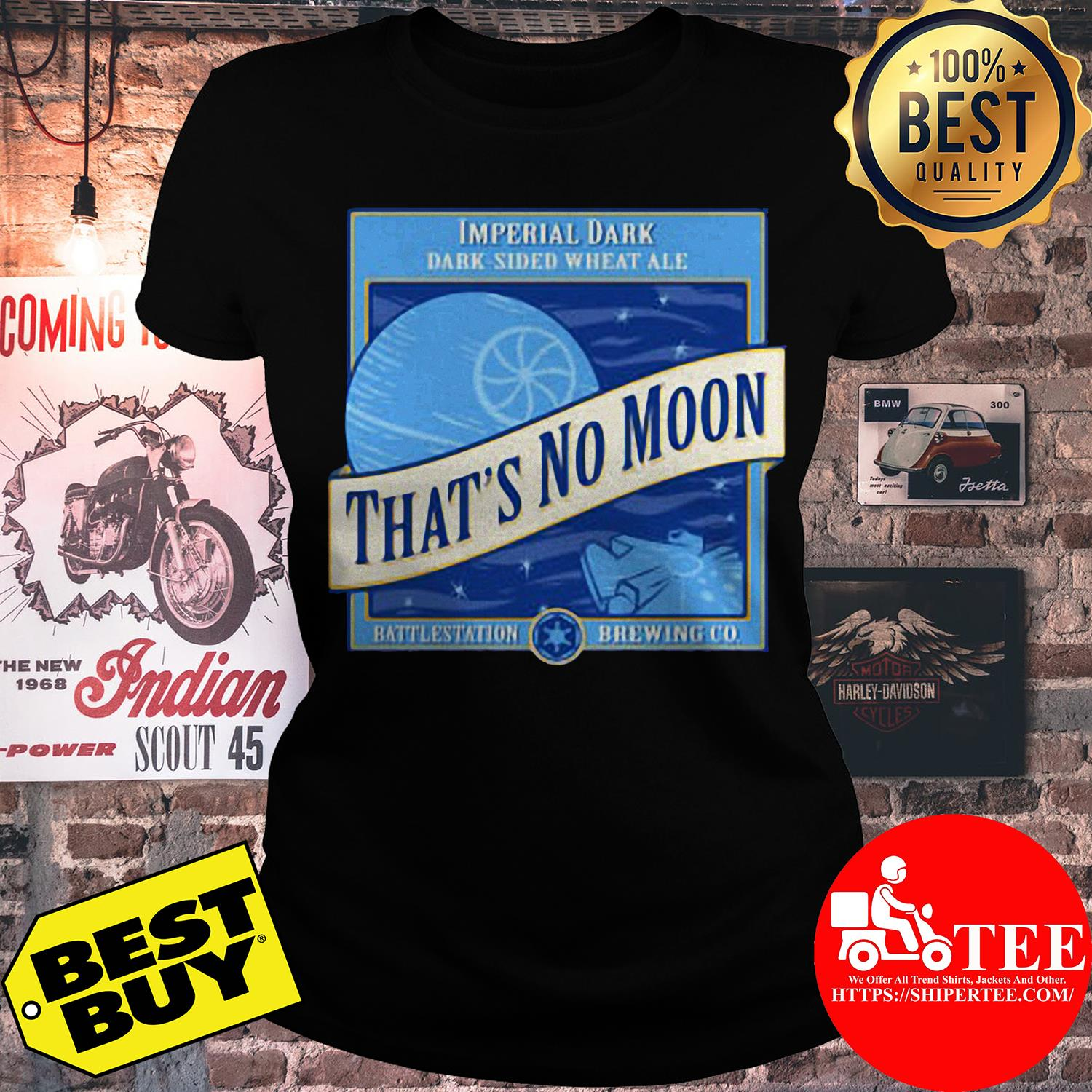 Star Wars That's No Moon Imperial Dark Side Wheat Ale ladies tee