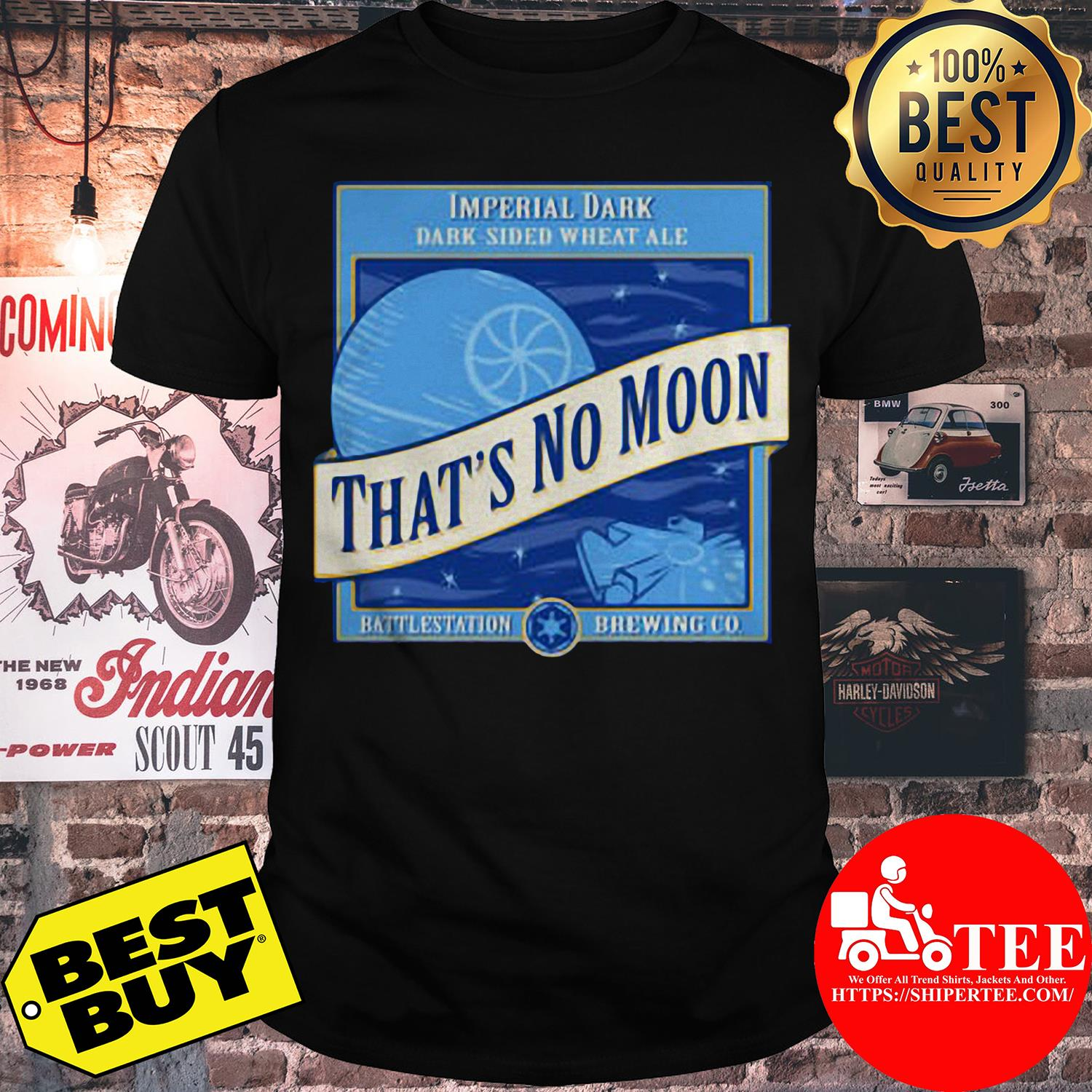Star Wars That's No Moon Imperial Dark Side Wheat Ale Shirt