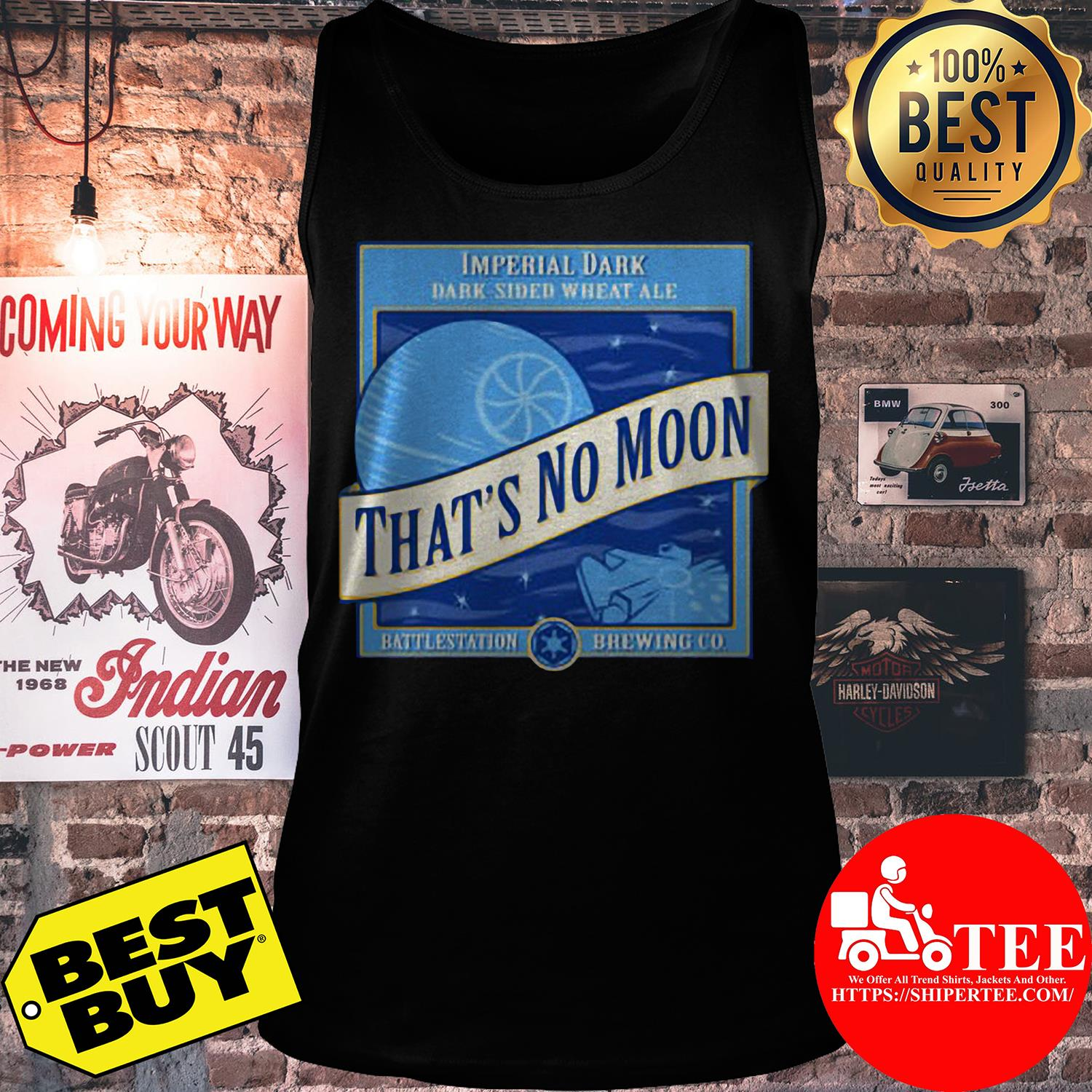 Star Wars That's No Moon Imperial Dark Side Wheat Ale tank top