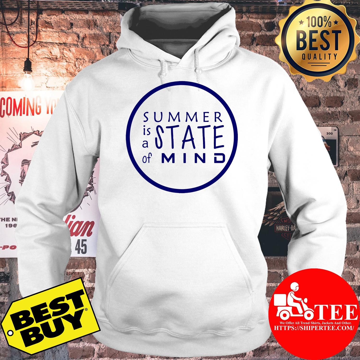 Summer is A State of Mind Inspirational Circle hoodie