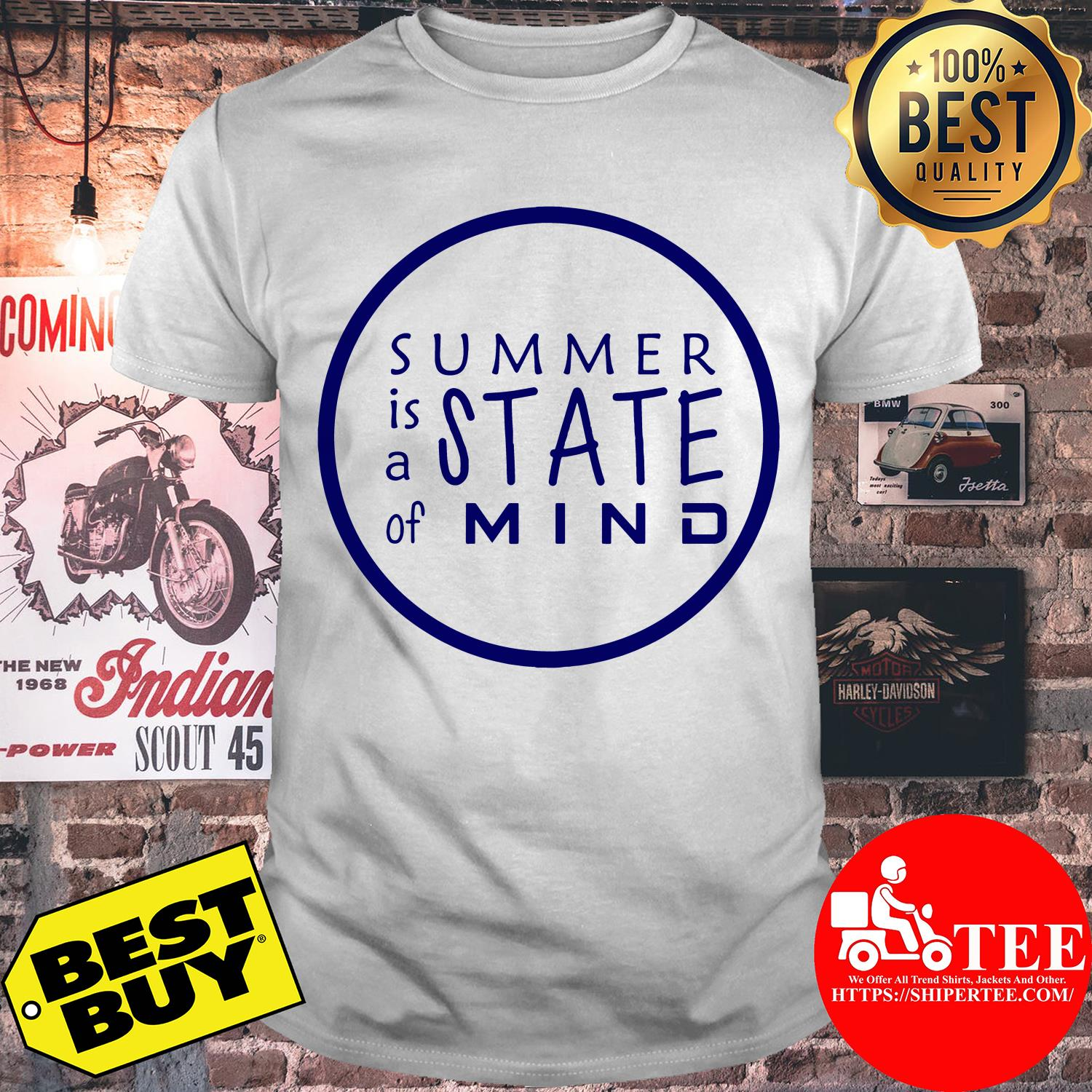 Summer is A State of Mind Inspirational Circle Shirt