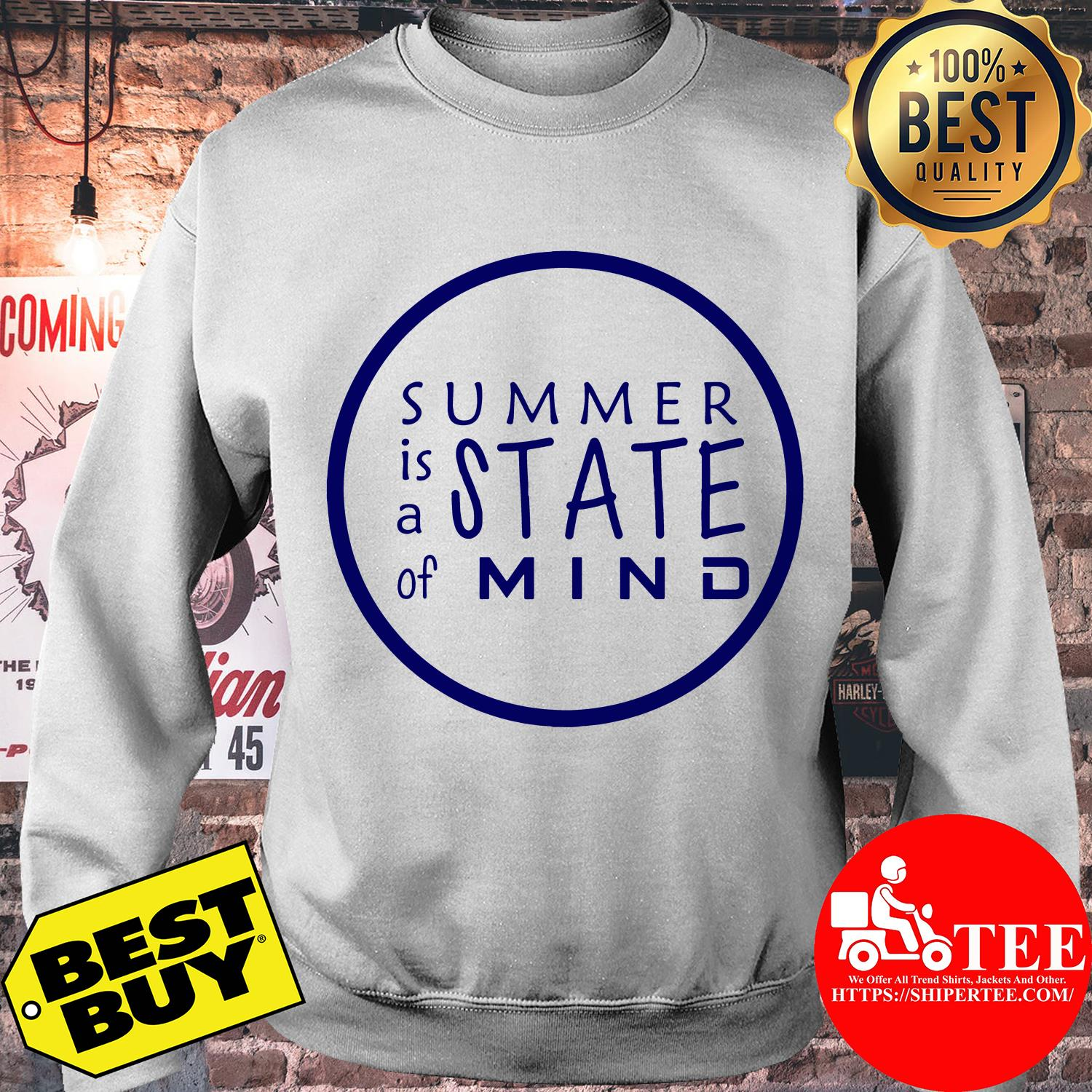 Summer is A State of Mind Inspirational Circle sweatshirt