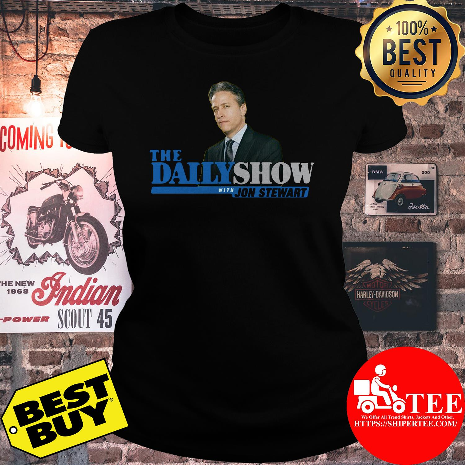 The Daily Show With Jon Stewart ladies tee