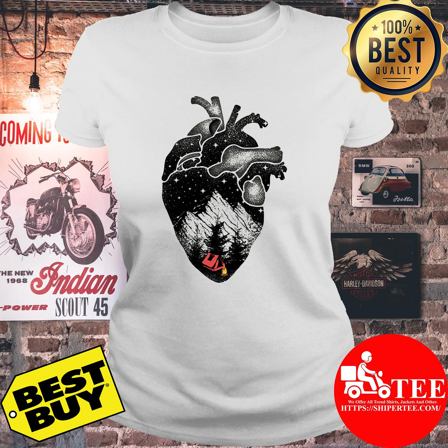 The landscape's inside the heart ladies tee