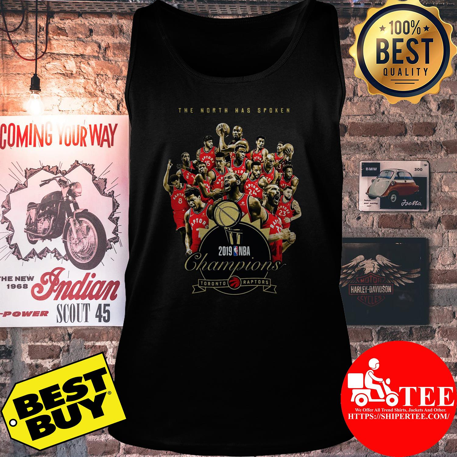 Toronto Raptors The North has spoken 2019 NBA Champions tank top