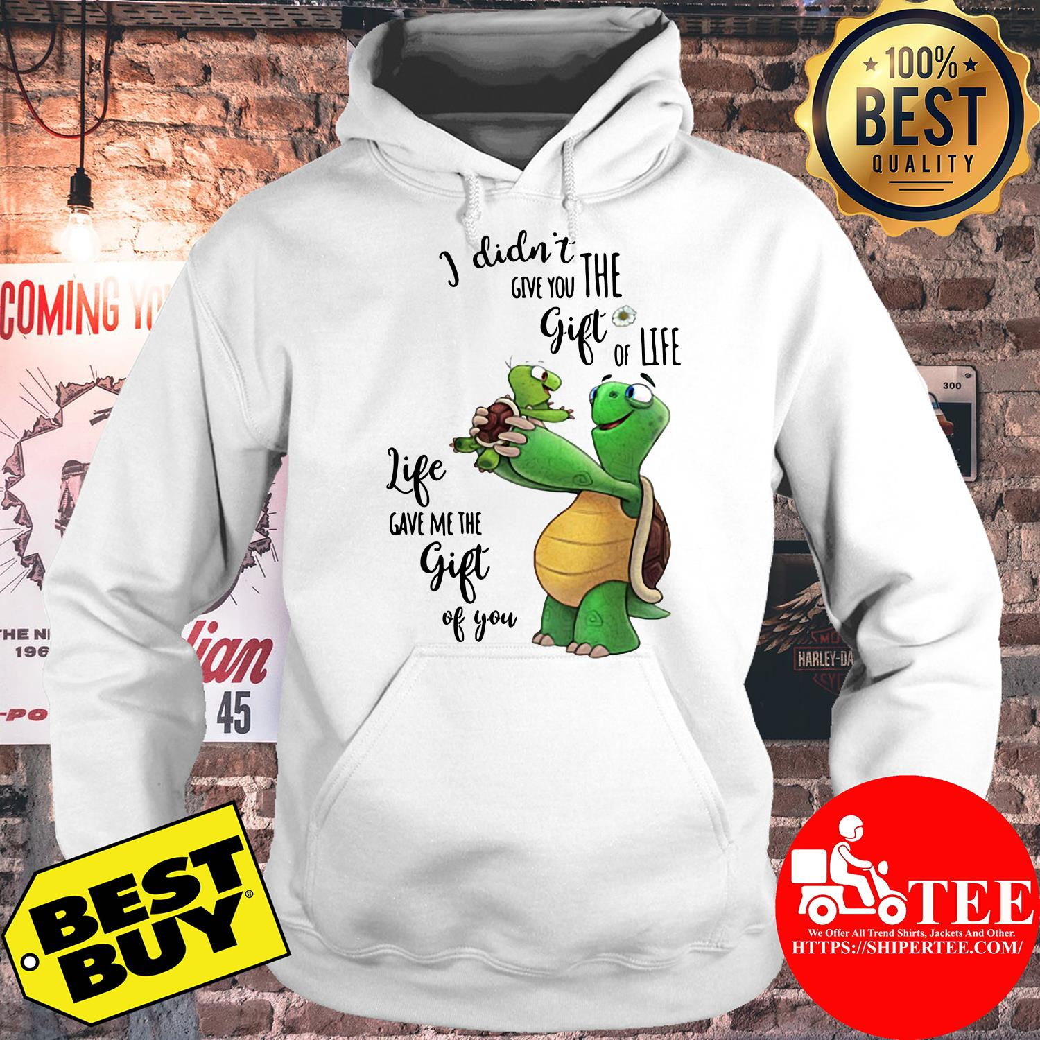 Turtle life give me the gift of you hoodie