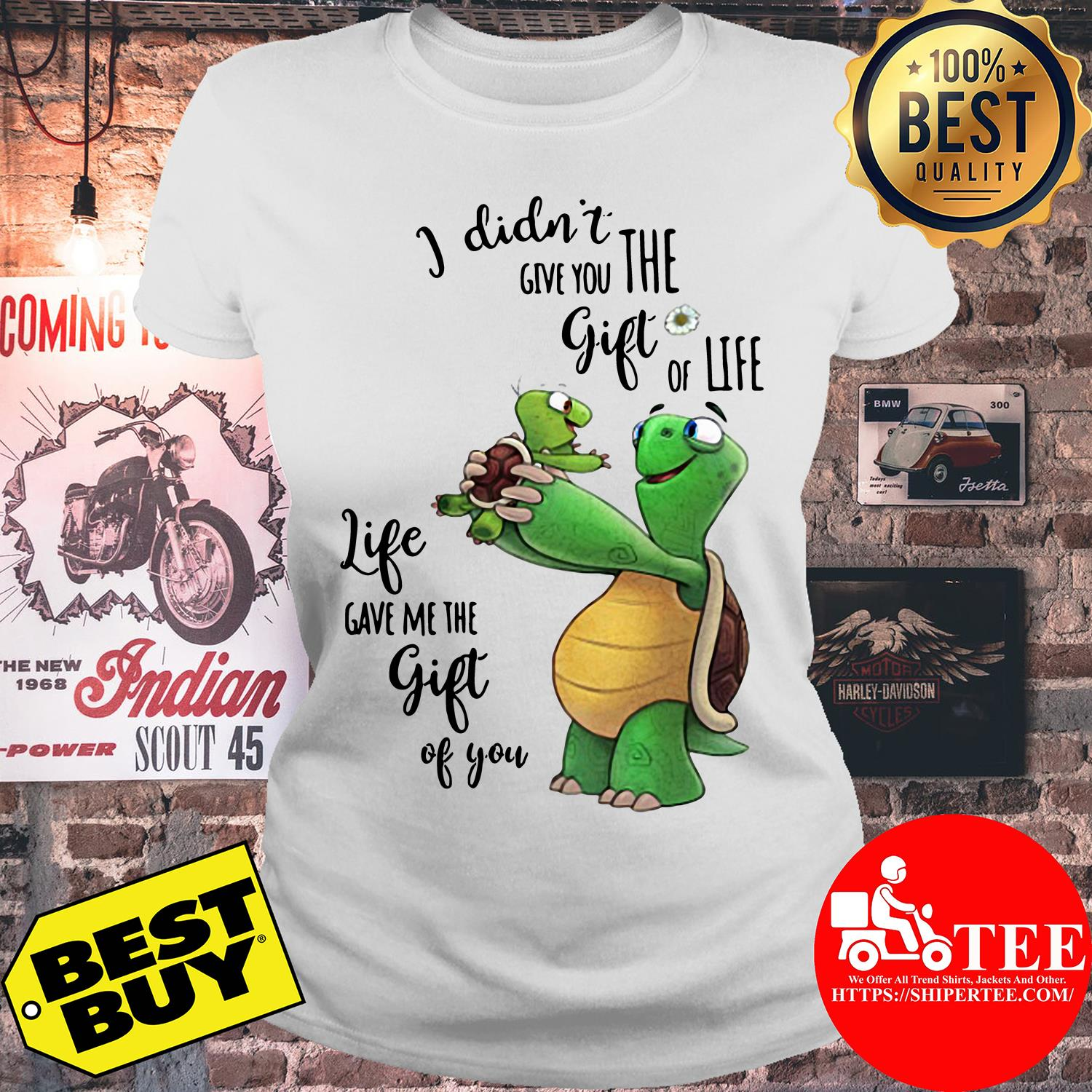 Turtle life give me the gift of you ladies tee