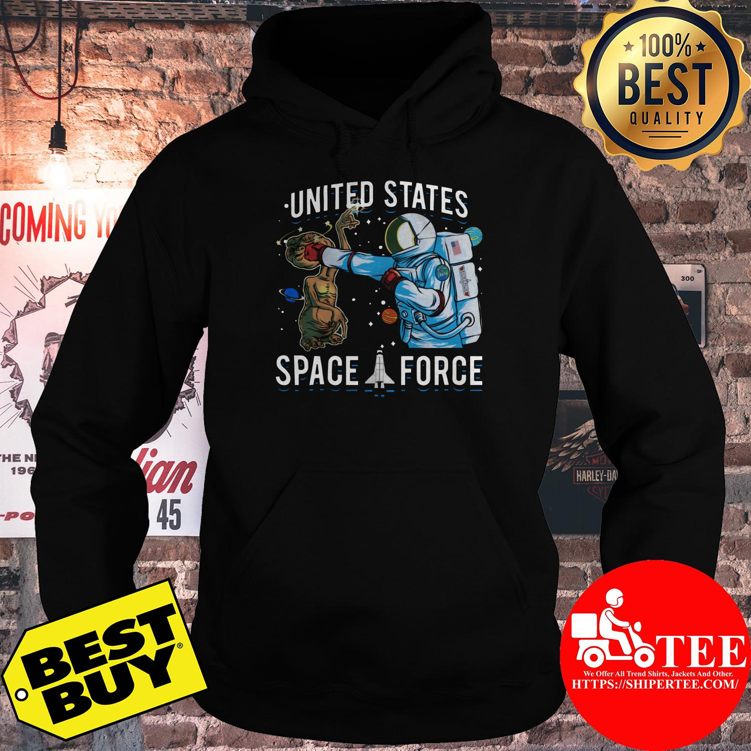 United States Space Force punch Alien hoodie