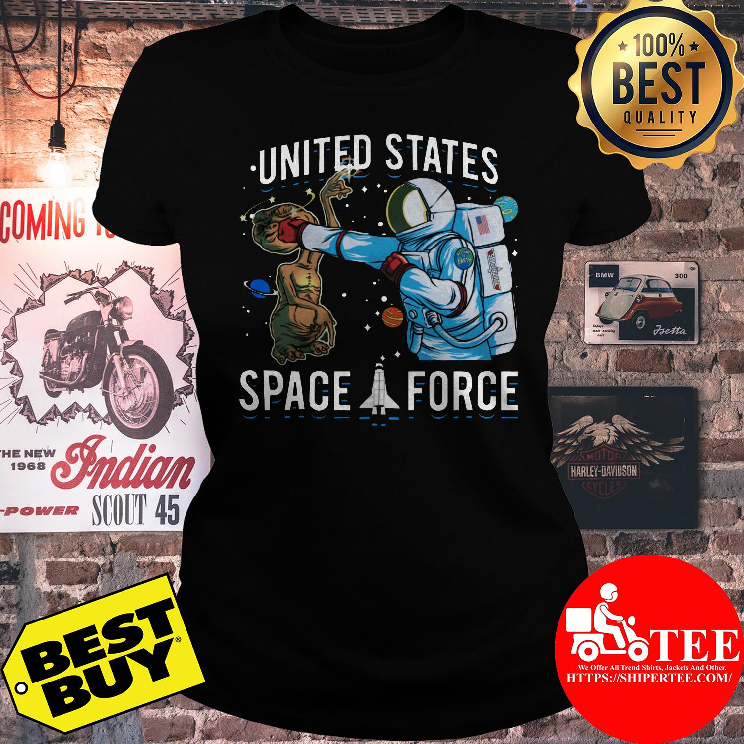 United States Space Force punch Alien ladies tee