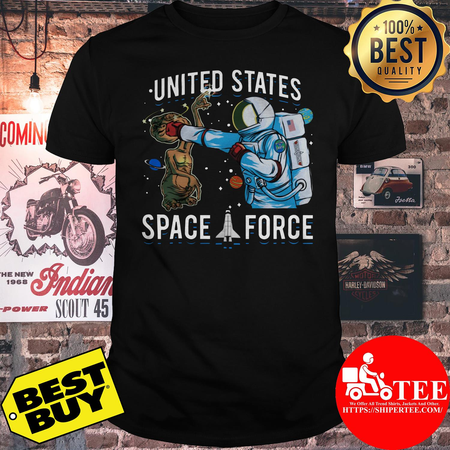 United States Space Force punch Alien shirt