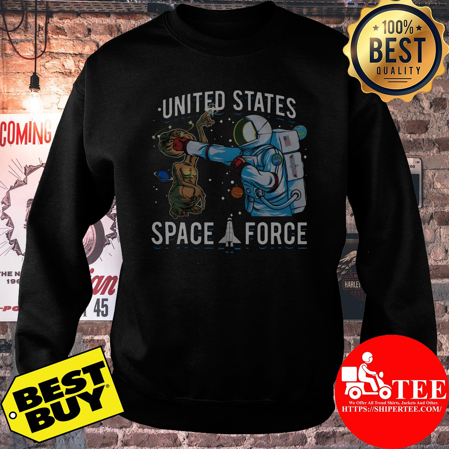 United States Space Force punch Alien sweatshirt