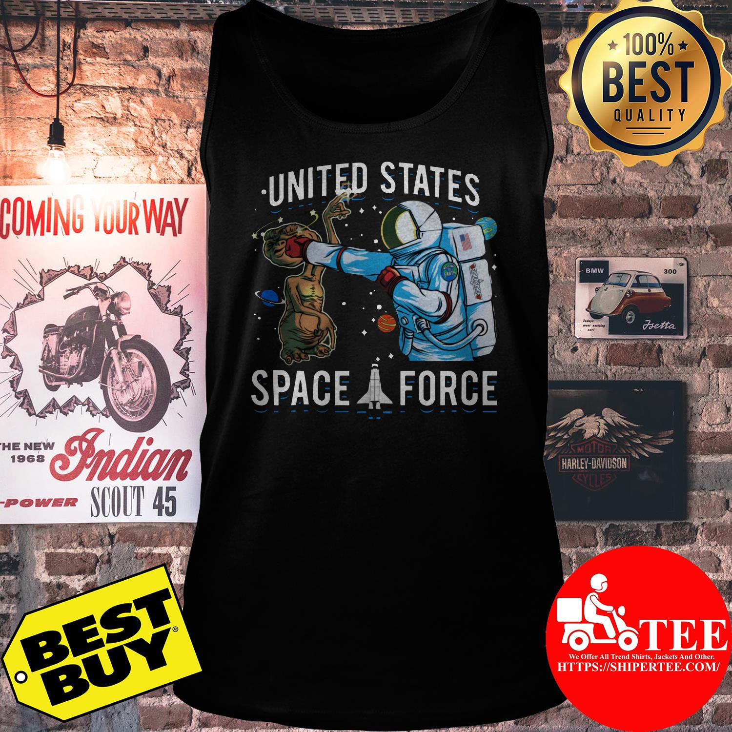 United States Space Force punch Alien tank top