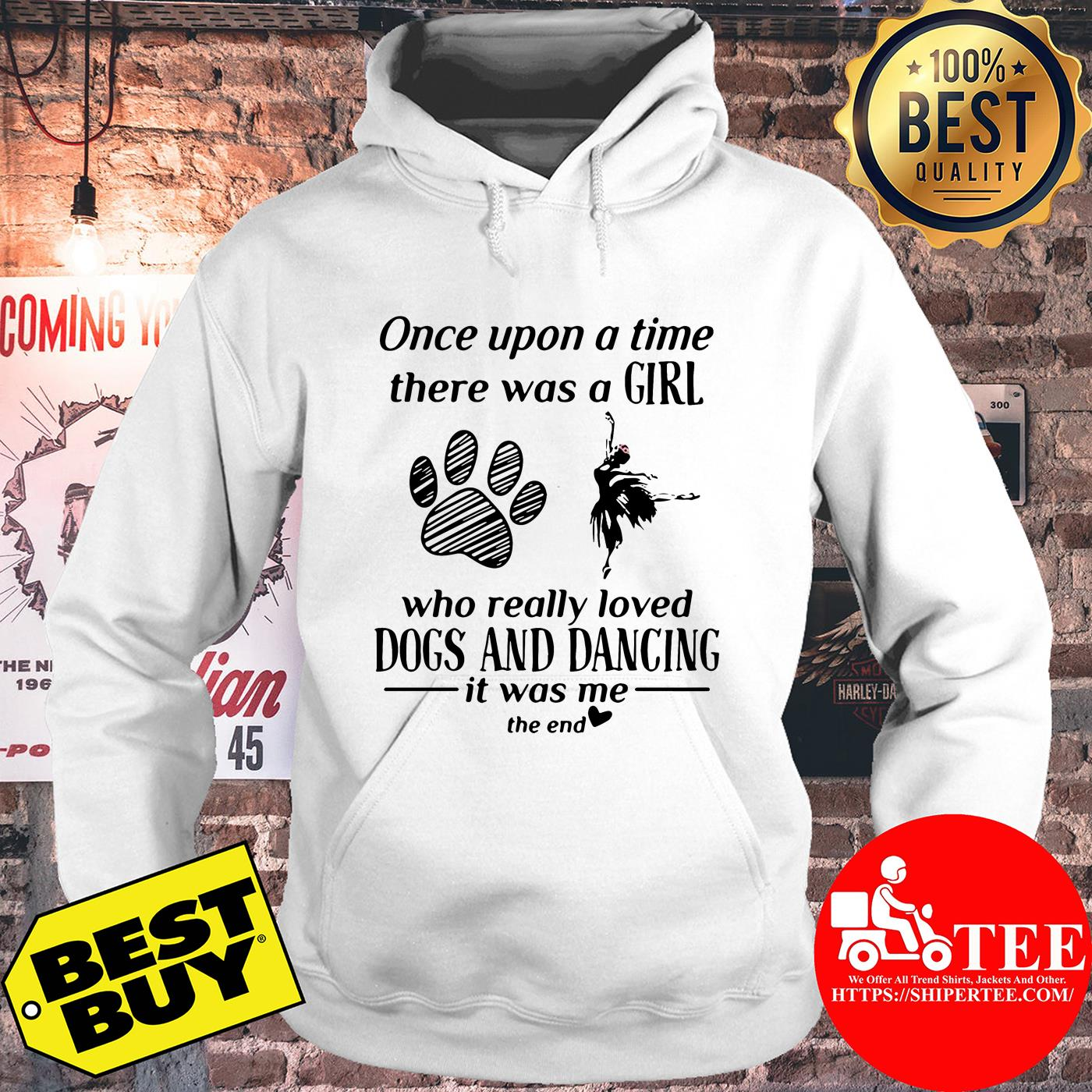 Once upon a time there was a girl who really loved dogs and dancing hoodie