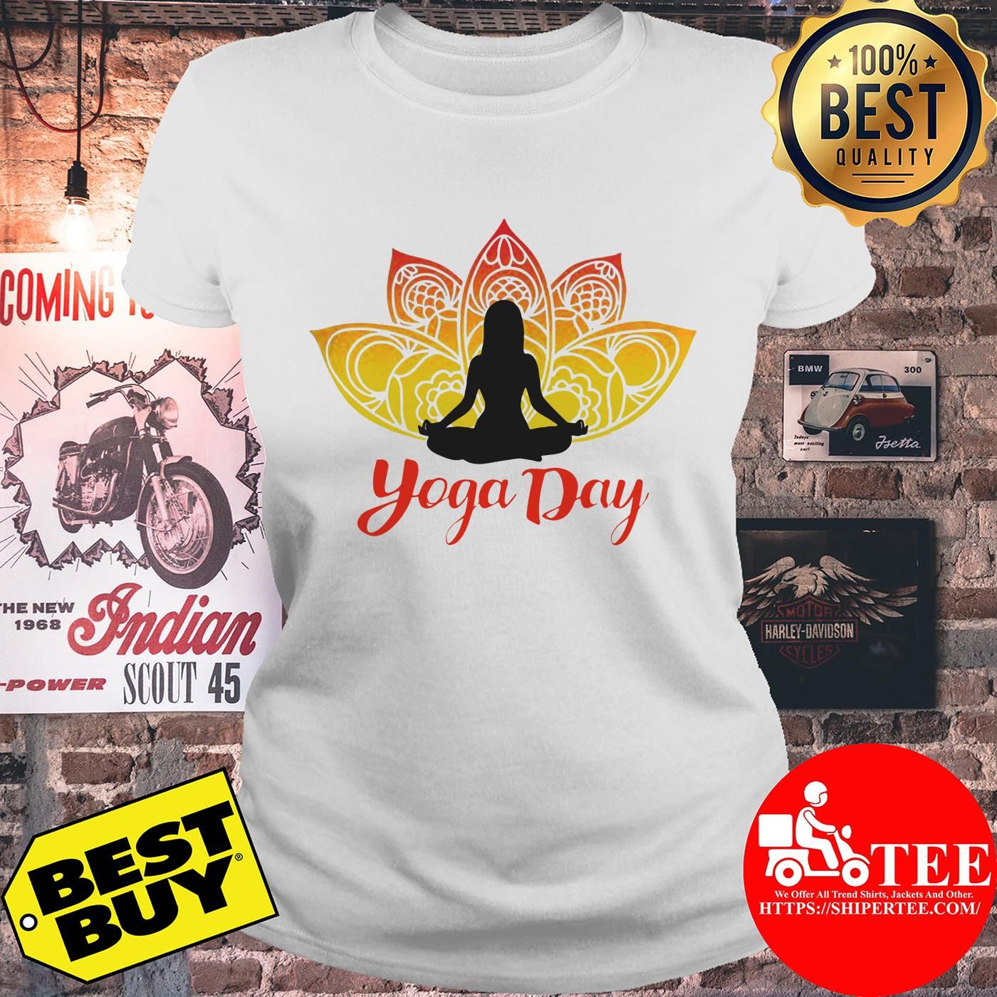Yoga Day 21th June 2019 ladies tee