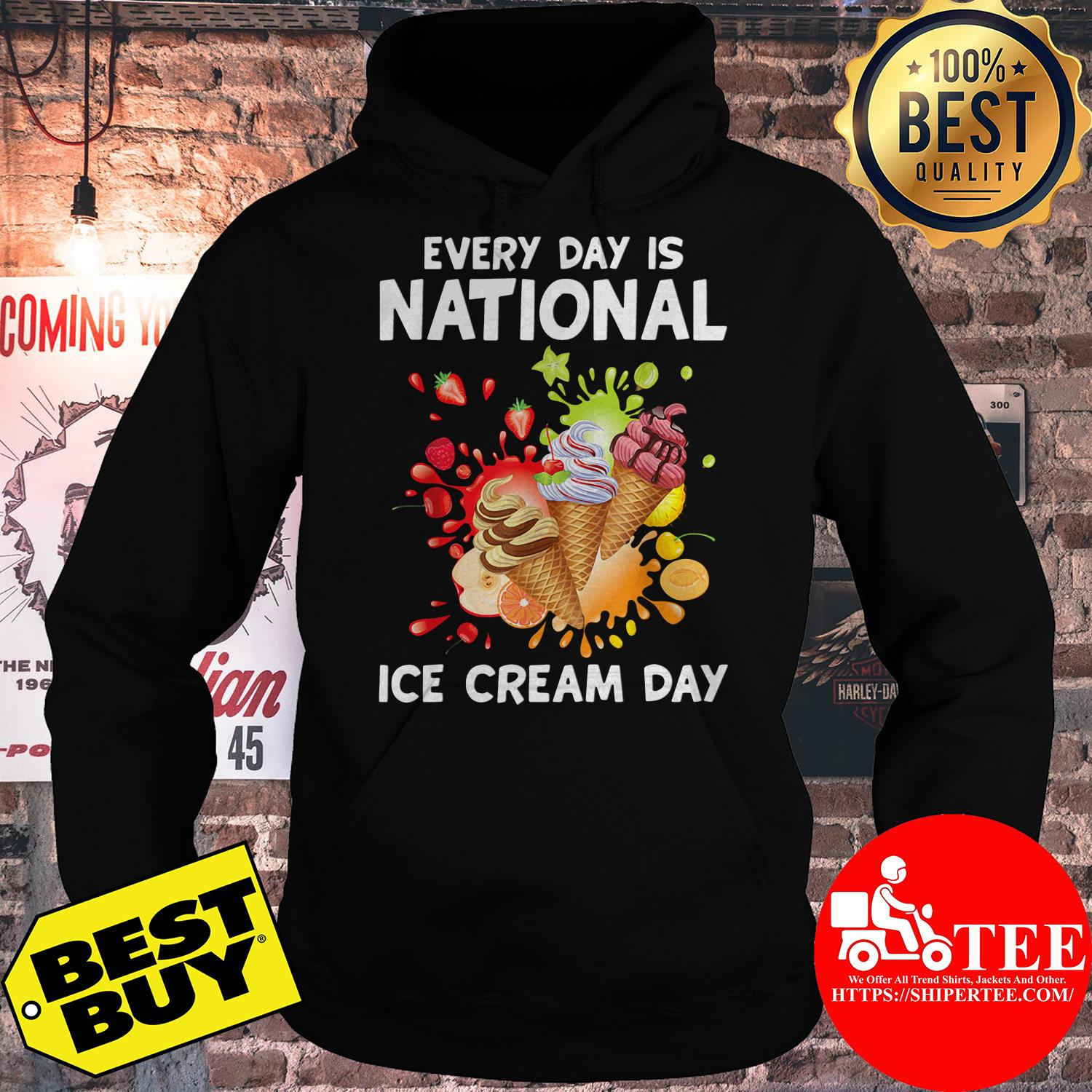 Every Day Is National Ice Cream Day Kids hoodie