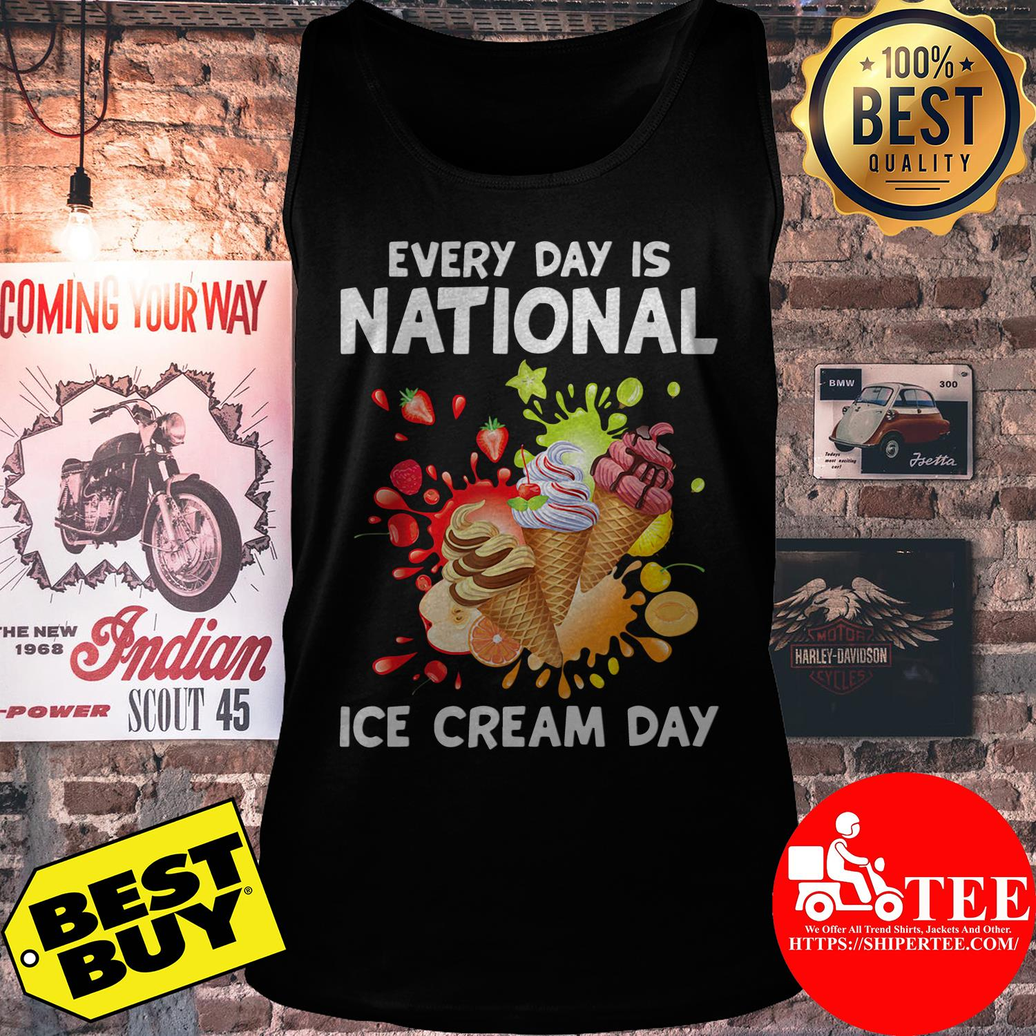 Every Day Is National Ice Cream Day Kids tank top