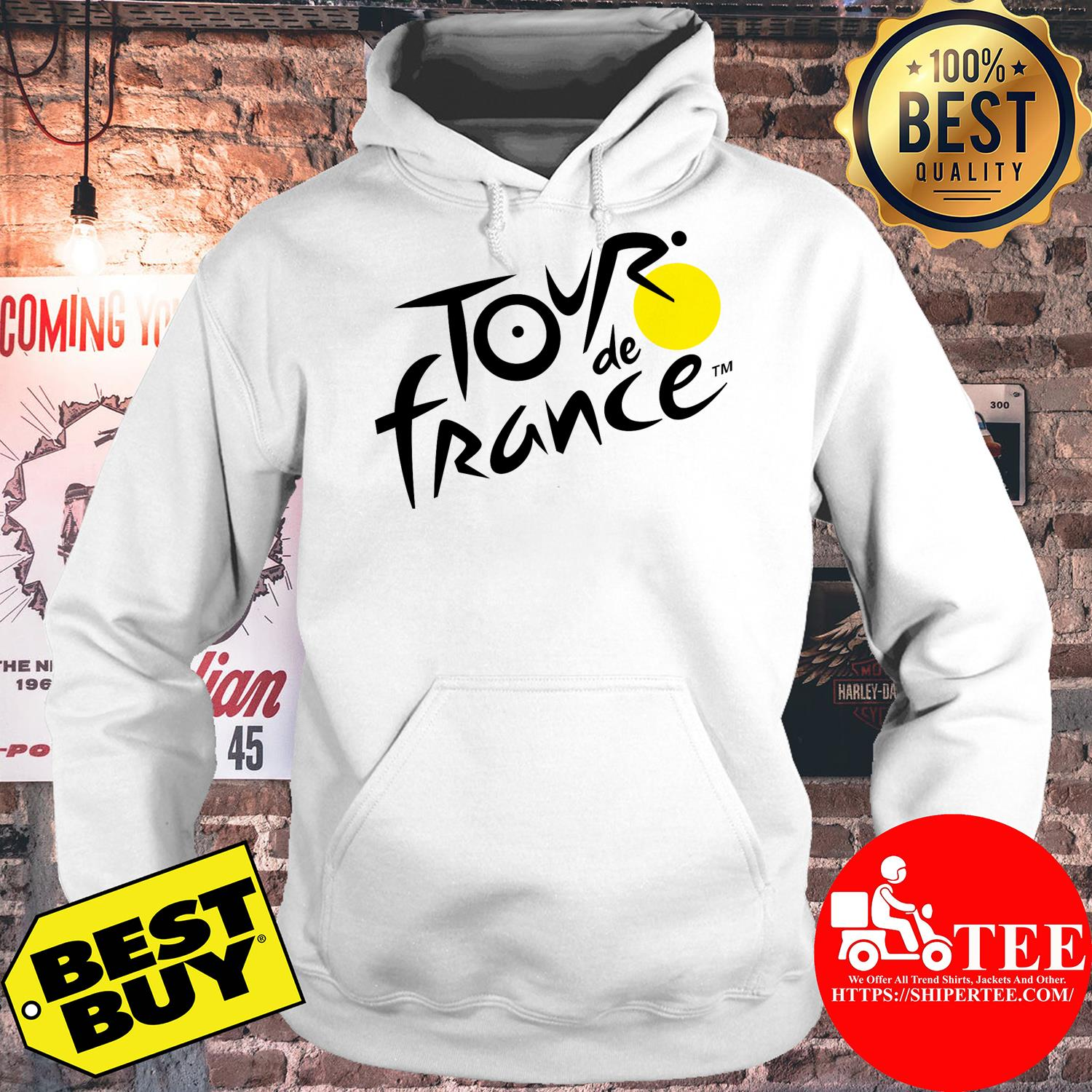 Official logo of Le Tour de France hoodie