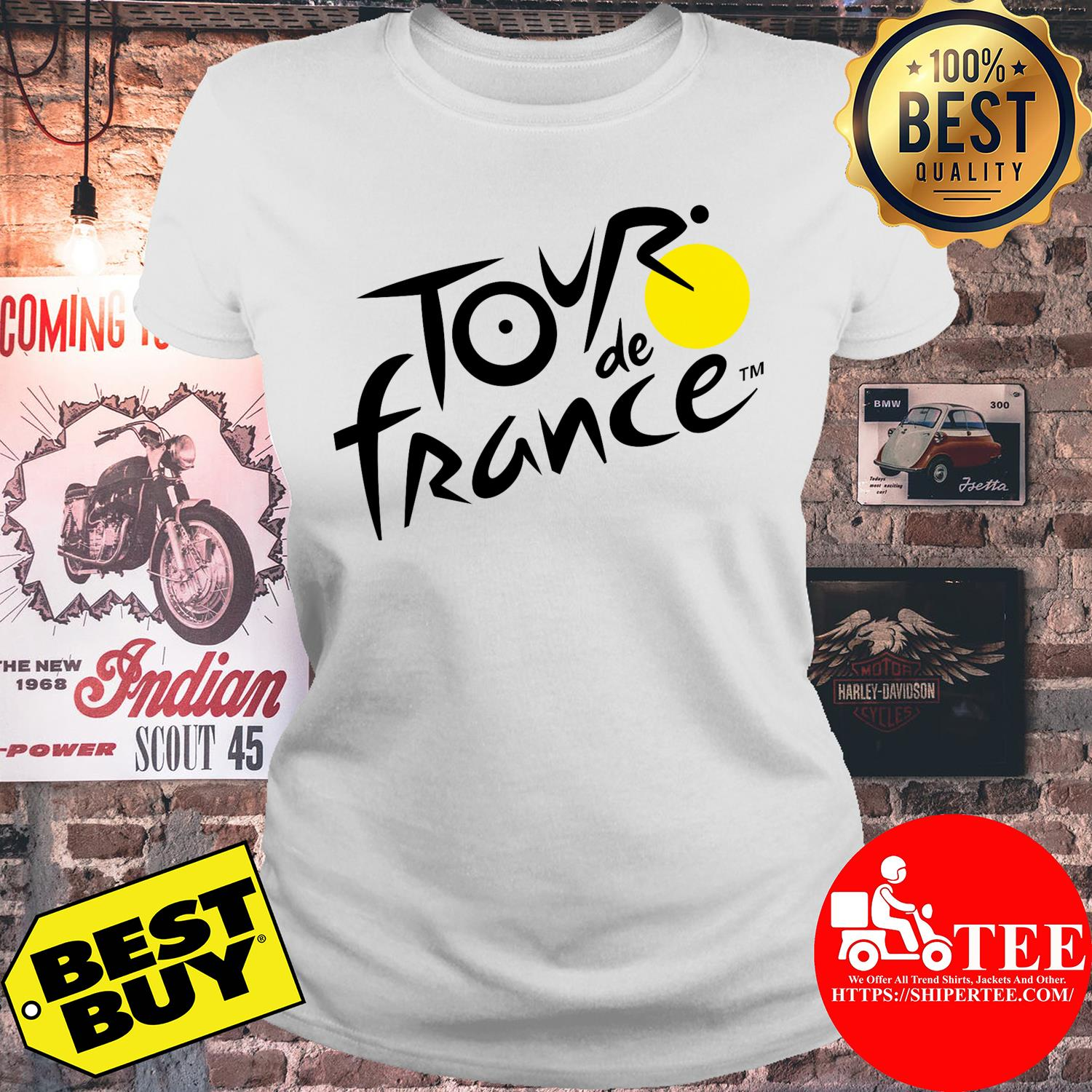 Official logo of Le Tour de France ladies tee