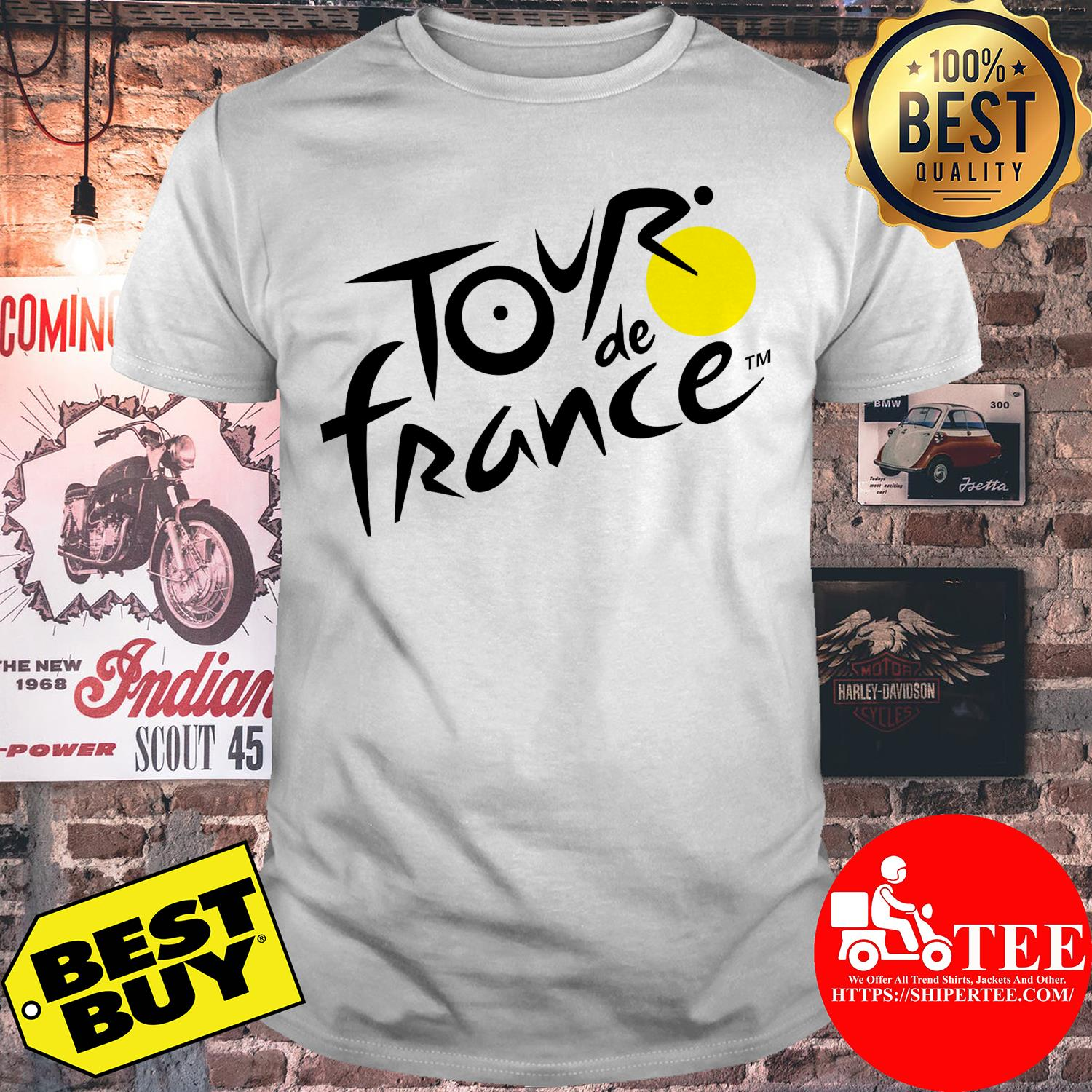 Official logo of Le Tour de France shirt