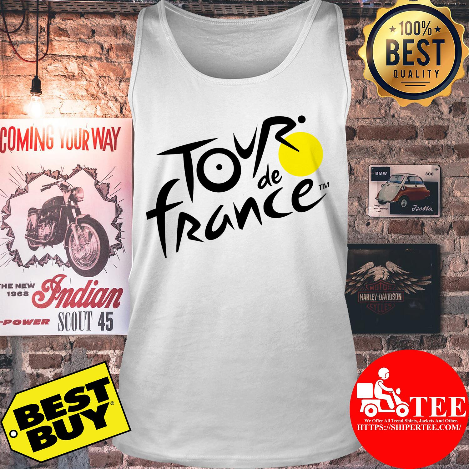 Official logo of Le Tour de France tank top