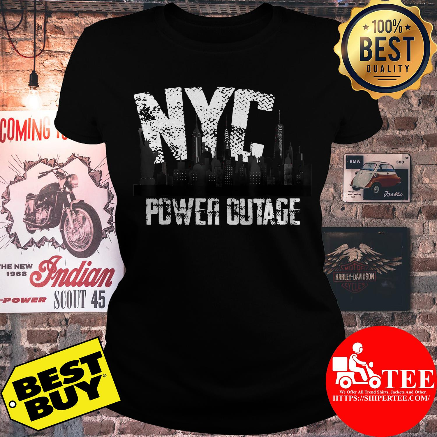 Official NYC Power Outage ladise tee