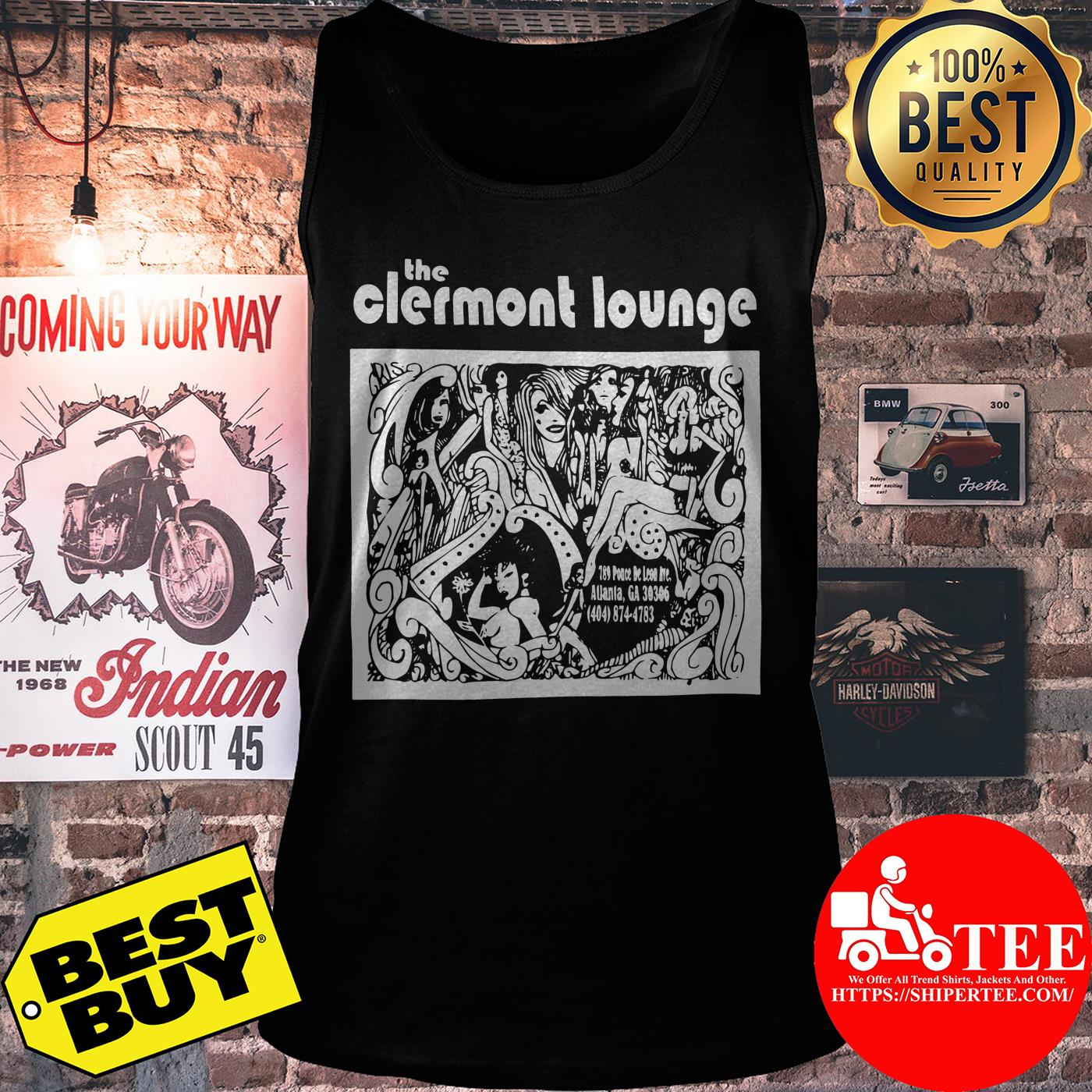 Official Vintage Clermont Lounge tank top