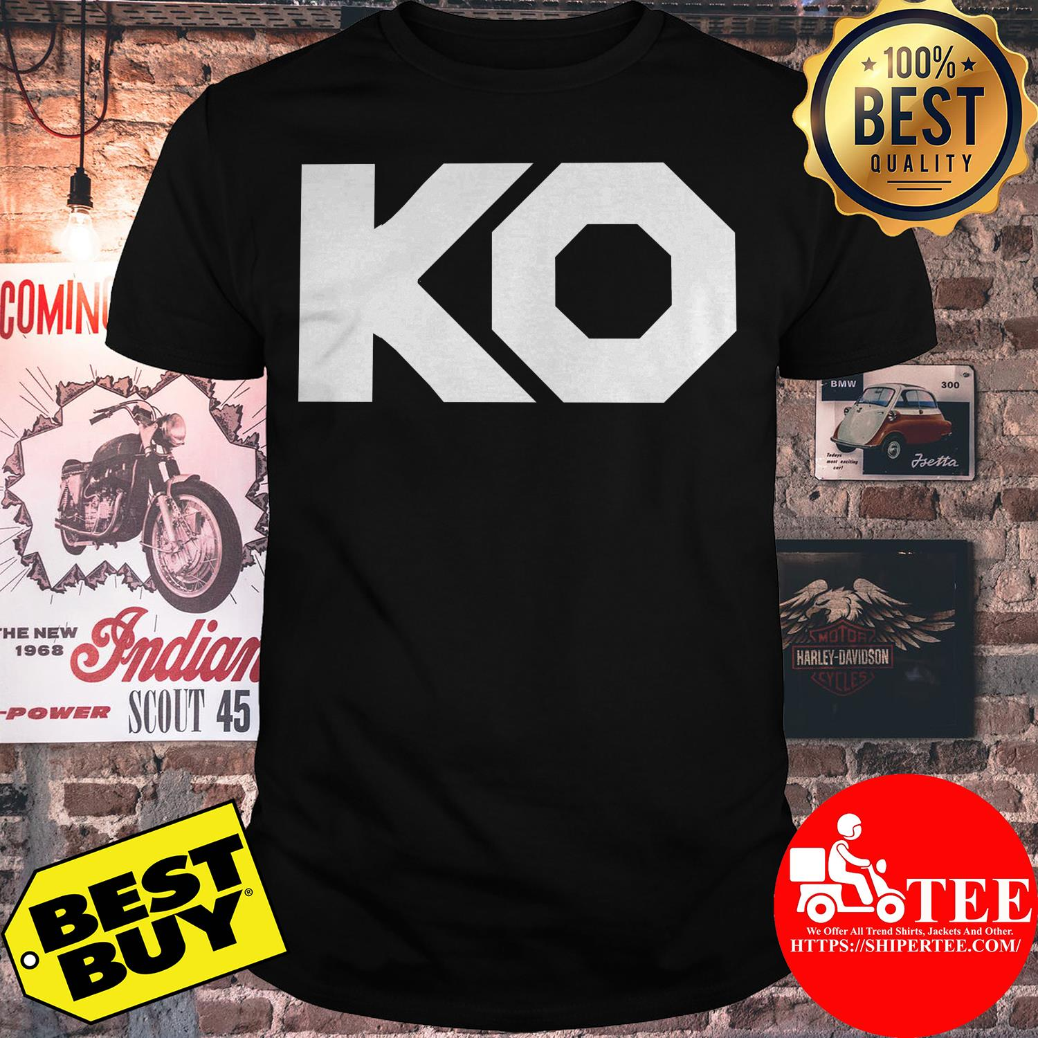 "WWE Authentic Kevin Owens ""KO Fight"" shirt"
