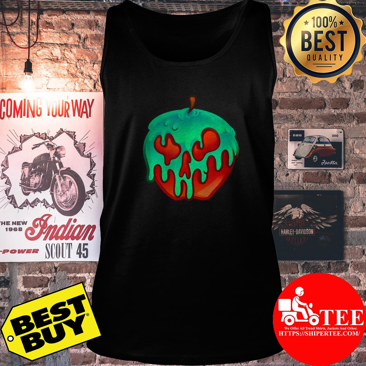 Awesome Poison Apple Snow White Princess Halloween Costume tank top