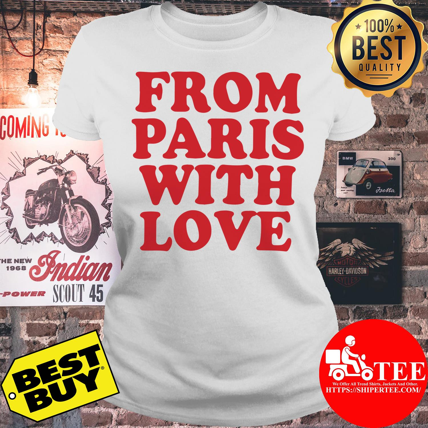 Official From Paris With Love ladies tee