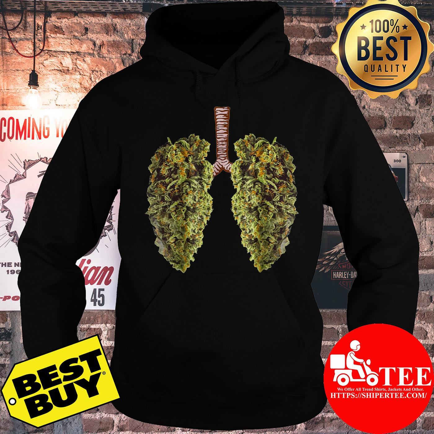 Official Leaf of Cannabis Lung hoodie
