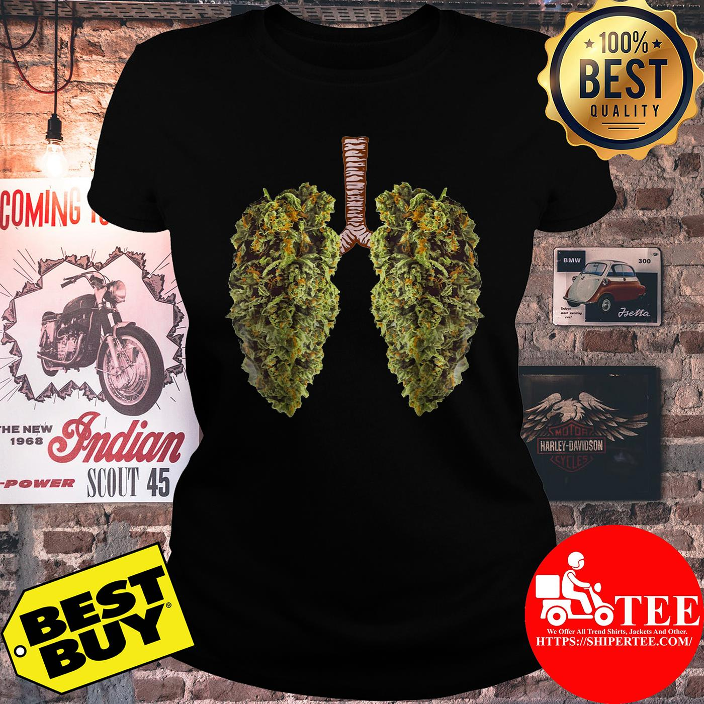 Official Leaf of Cannabis Lung ladies tee