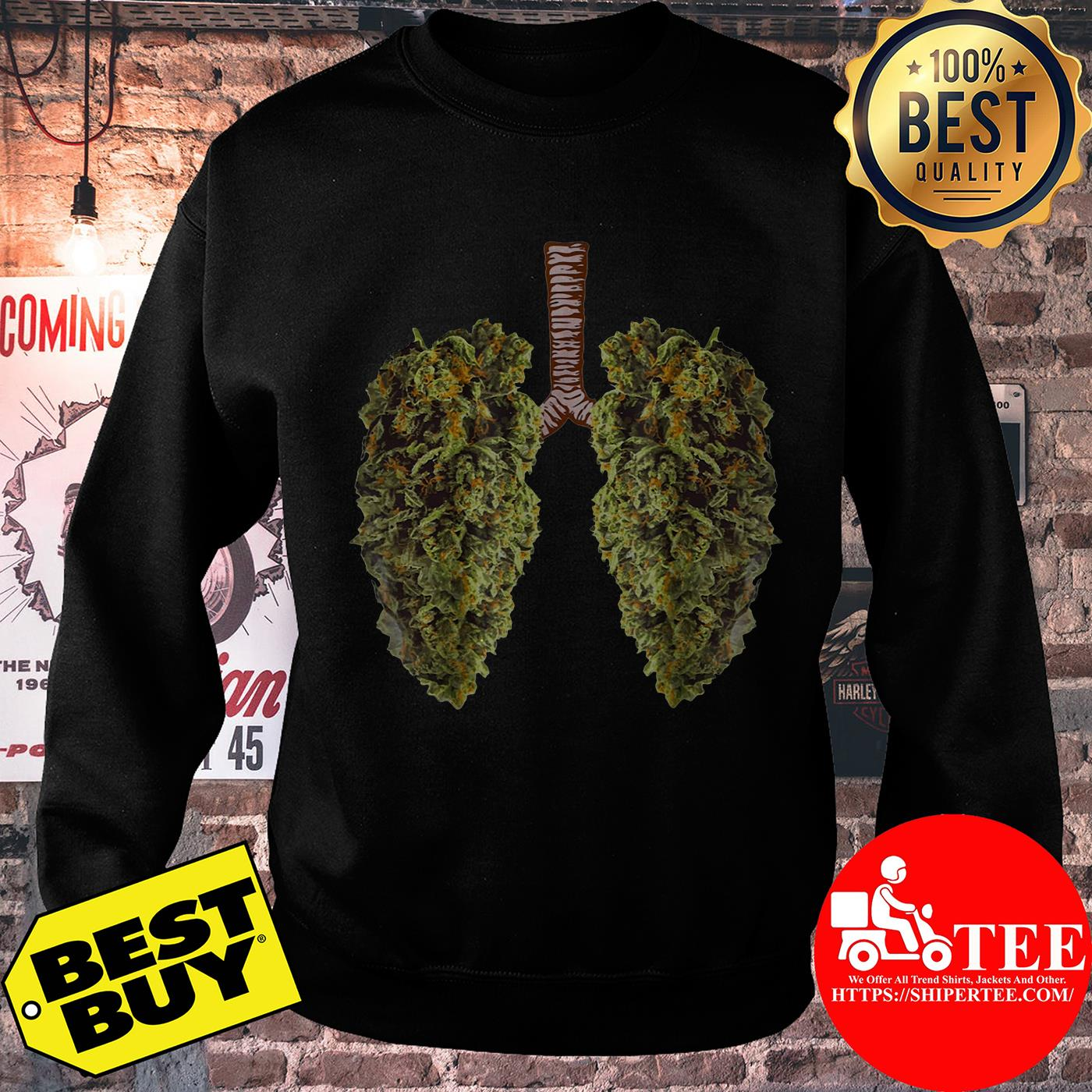 Official Leaf of Cannabis Lung sweatshirt