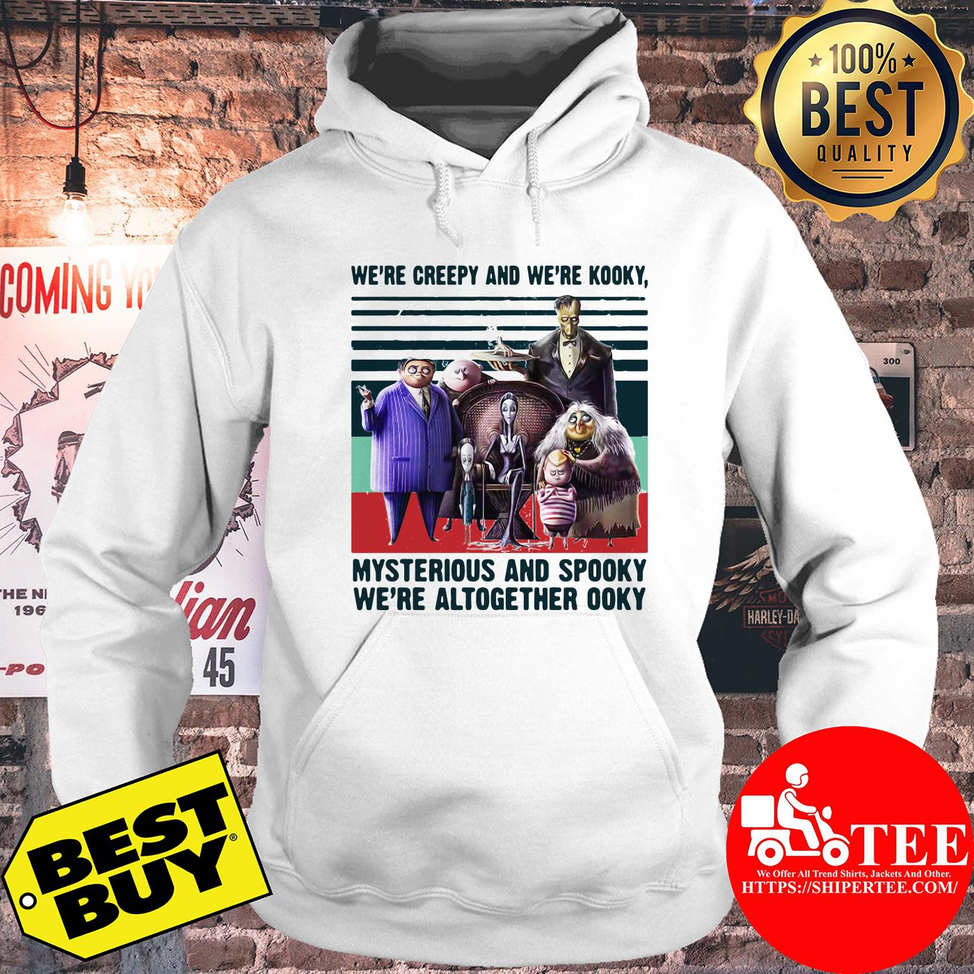 Andrew We're Creepy And We're Kooky Mysterious And Spooky We're Altogether Ooky Vintage hoodie