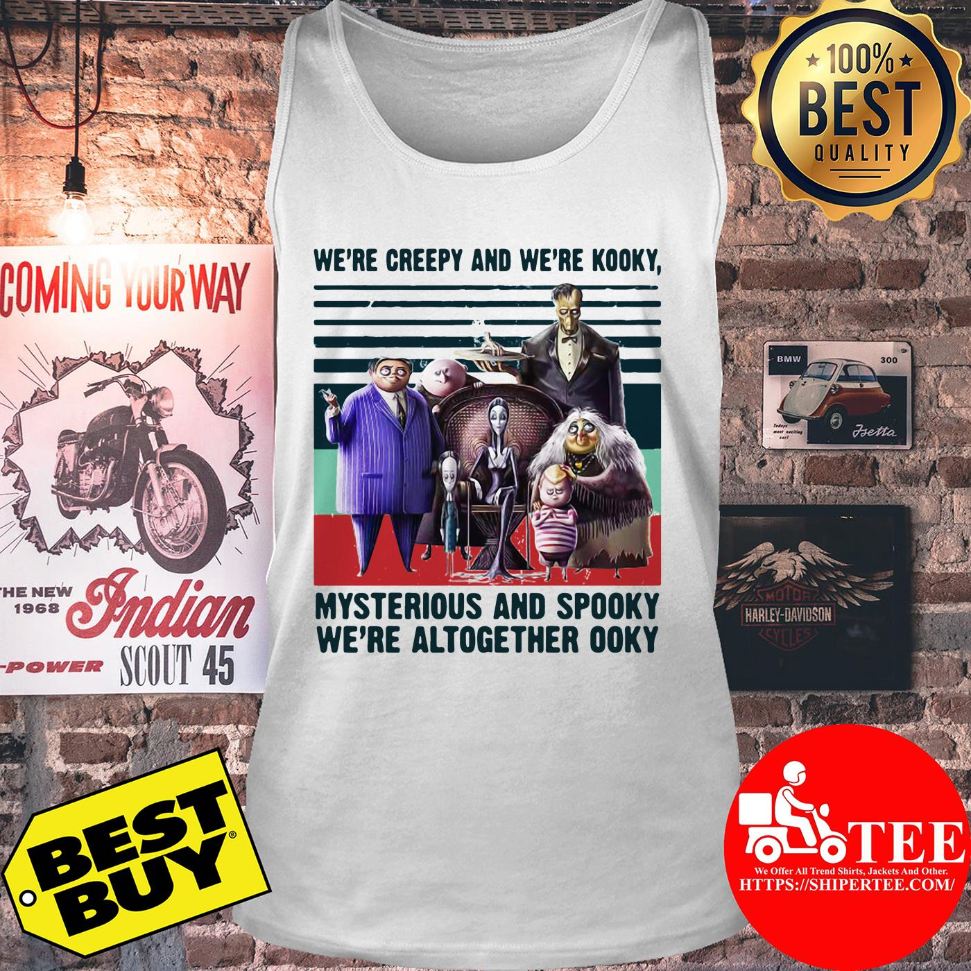 Andrew We're Creepy And We're Kooky Mysterious And Spooky We're Altogether Ooky Vintage tank top