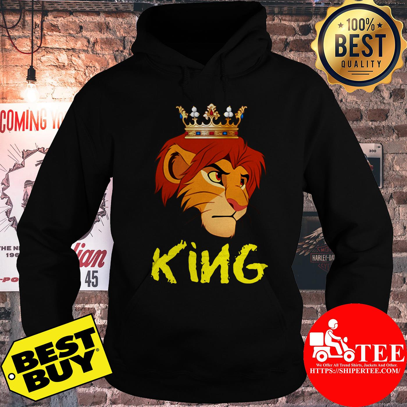 Official King Lion Funny hoodie