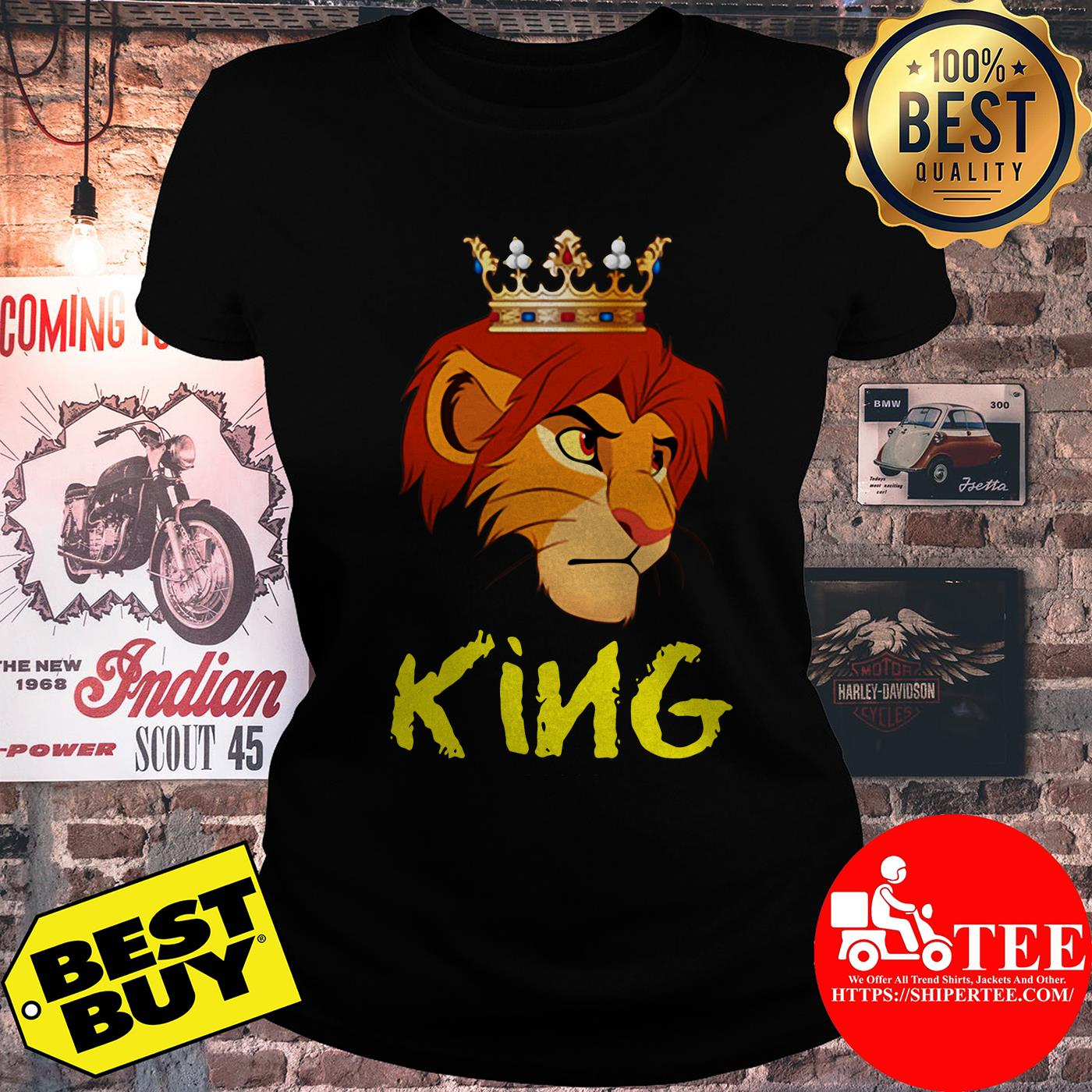 Official King Lion Funny ladies tee