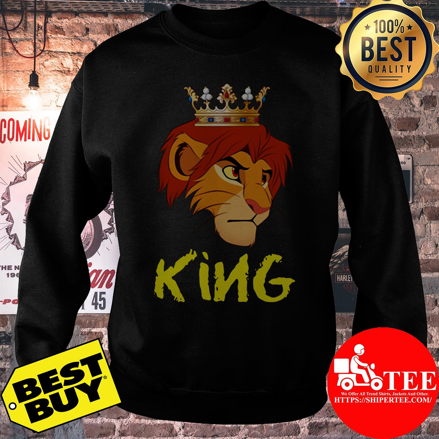Official King Lion Funny sweatshirt