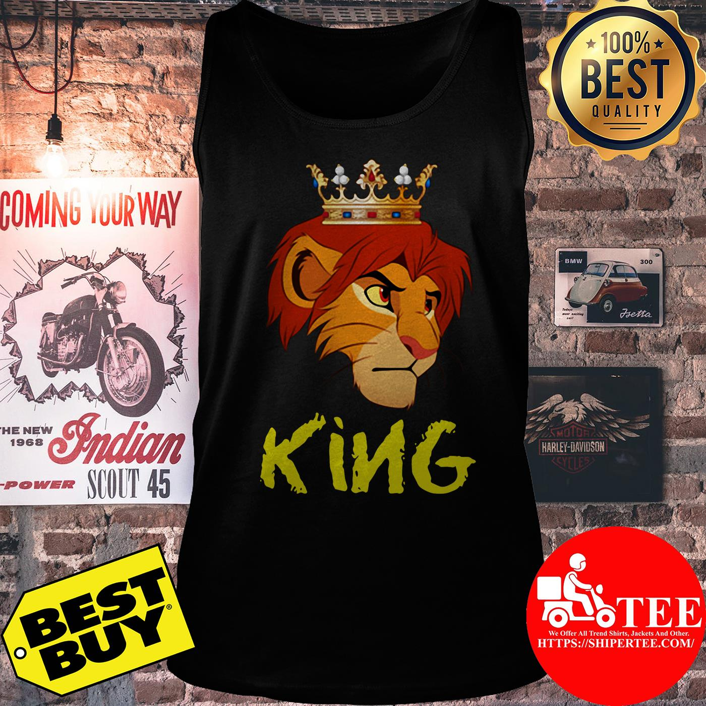 Official King Lion Funny tank top