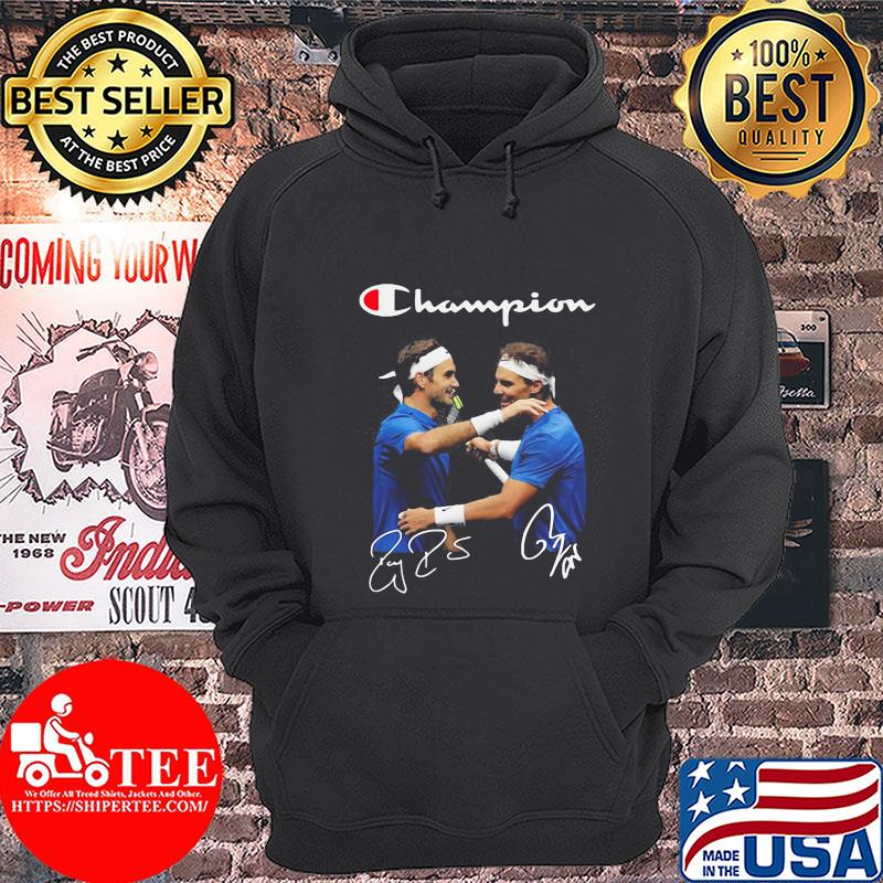 Champions Roger Federer And Rafael Nadal Badminton Shirt Hoodie